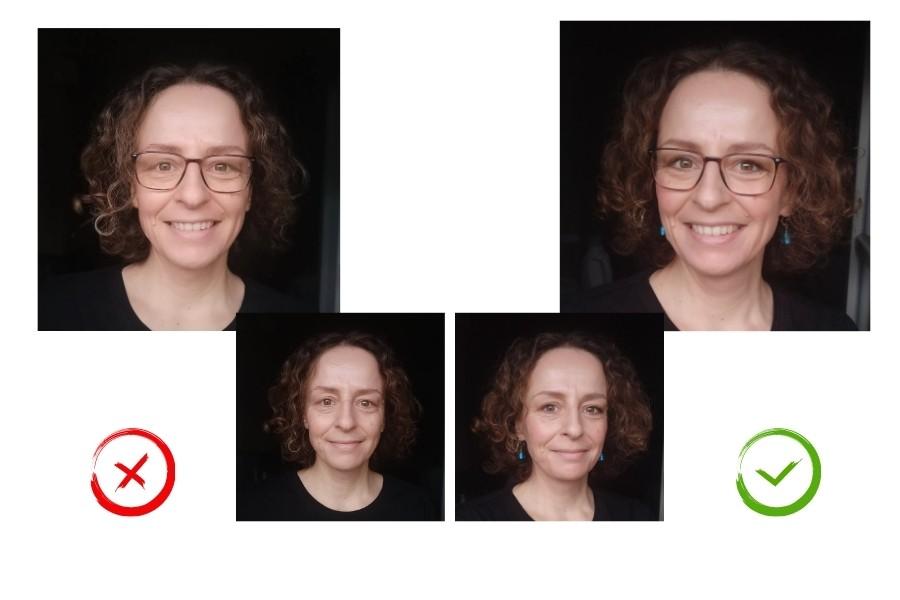 fotogen werden: Unterschied geschminkt nicht geschminkt