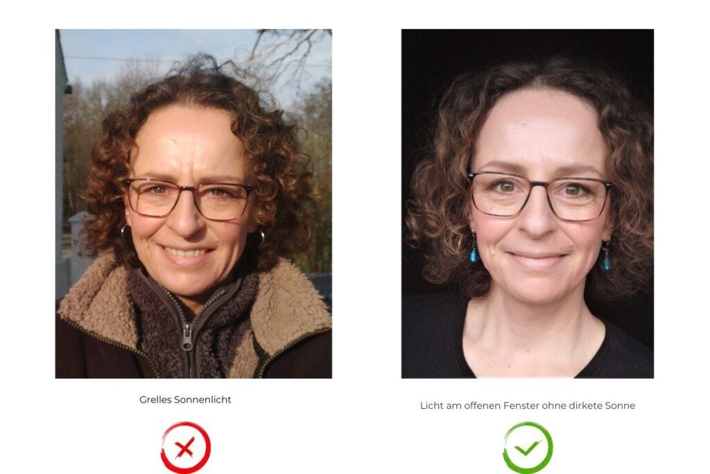 fotogen werden: Licht im Gesicht richtig und falsch