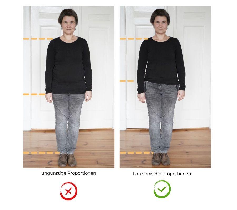 fotogene Proportionen Kleidung fürs Shooting
