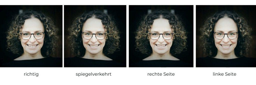 Porträt: speigelverkehrt und asymmetrisch
