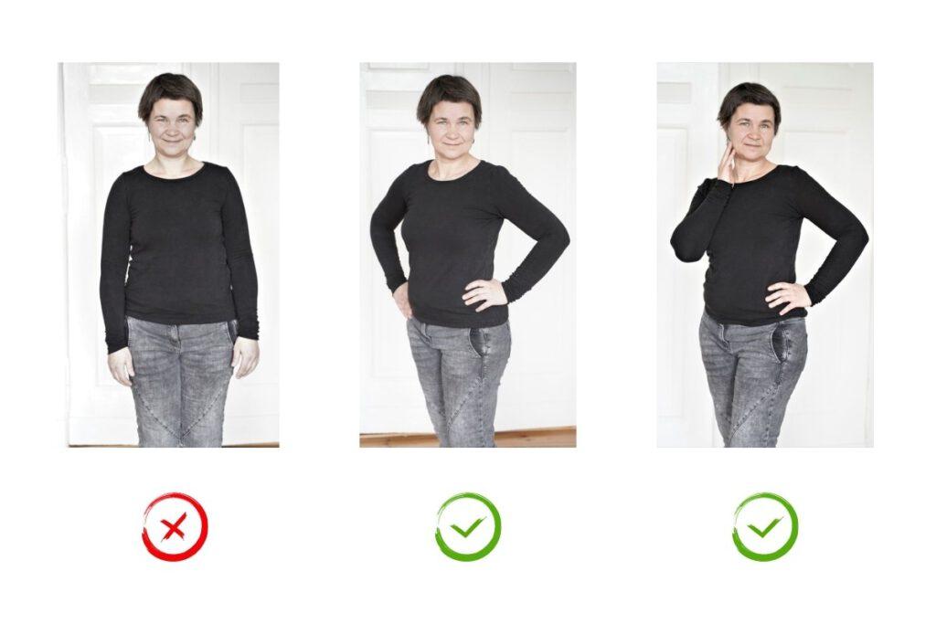 fotogen werden lernen Posing im Stehen